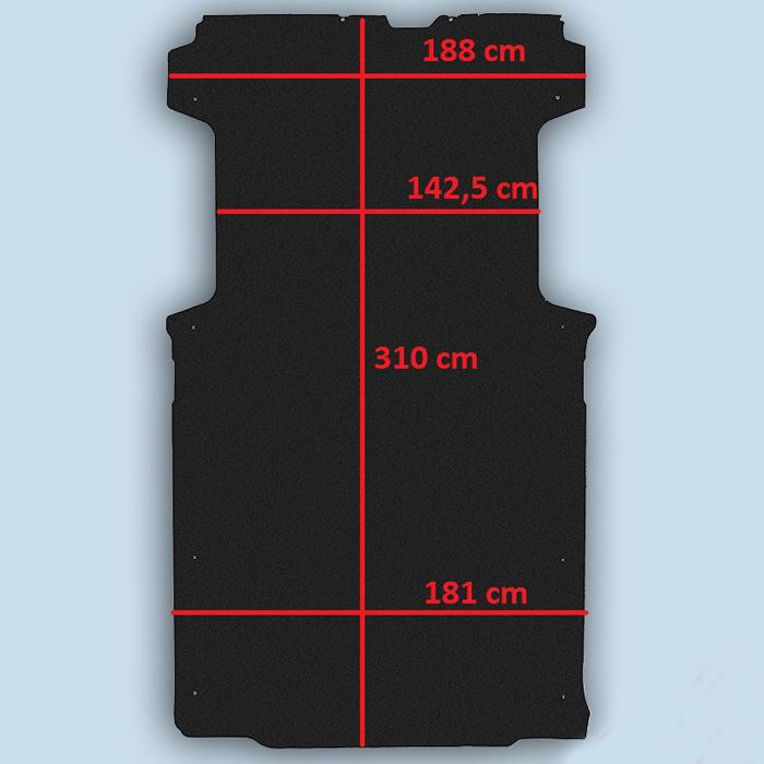 dimensions plancher peugeot boxer L2