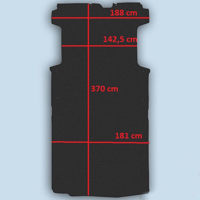 dimensions plancher peugeot boxer L3