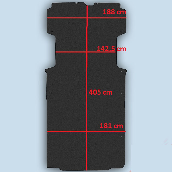 dimensions plancher Citroën Jumper L4